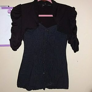 Maurices black dress shirt